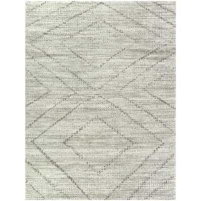 "Wittman Geometric Gray Area Rug, Rectangle 7'10"" x 10' - Wayfair"