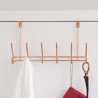 12 - Hook Over the Door Wall Mounted Coat Rack in Rose Gold - Wayfair
