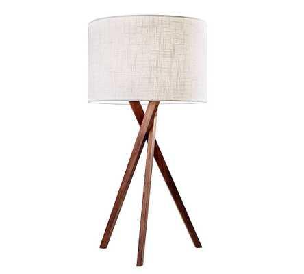 Genoa Wooden Table Lamp, Walnut - Pottery Barn
