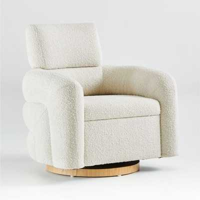 Snoozer Cream Swivel Glider - Crate and Barrel