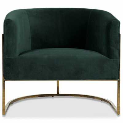 Lisbon Barrel Chair Upholstery: Hunter Green - Perigold