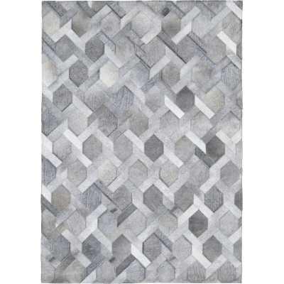 Madisons Inc Geometric Handmade Cowhide Area Rug Rug Size: Rectangle 9' x 12' - Perigold