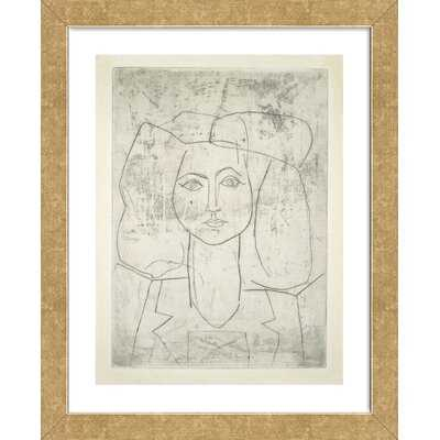 'Portrait of Francoise, Dressed...' by Pablo Picasso Framed Wall Art - Wayfair
