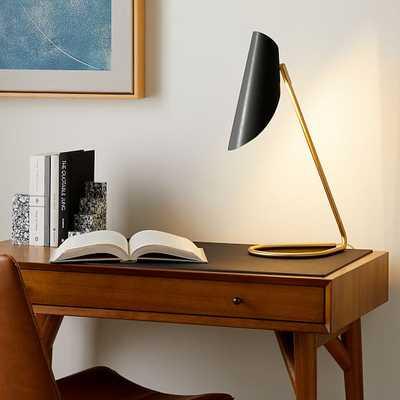 Curl Desk Lamp, Dark Bronze, Antique Brass - West Elm