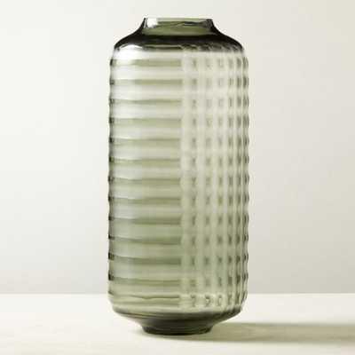 Carter Glass Smoke Vase - CB2