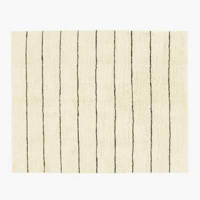 Micah Stripe Shag Hand-knotted Rug 8'x10' - CB2