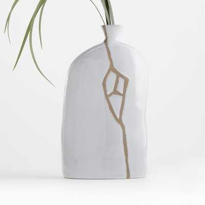 River White Ceramic Vase - Crate and Barrel