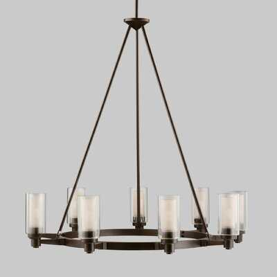 Maximo 9 - Light Shaded Wagon Wheel Chandelier - Birch Lane