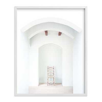 "Seated in Greece II, 16""x20"", White Wood Frame - West Elm"