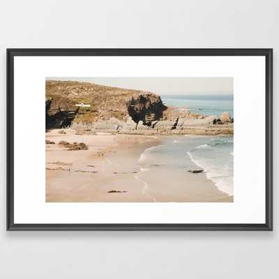 Beach Love Vi Framed Art Print by Ingrid Beddoes Photography - Scoop Black - LARGE (Gallery)-26x38 - Society6