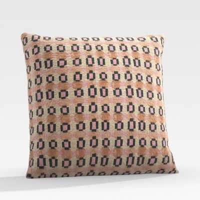 "Garner 20"" Blush Outdoor Pillow - Crate and Barrel"