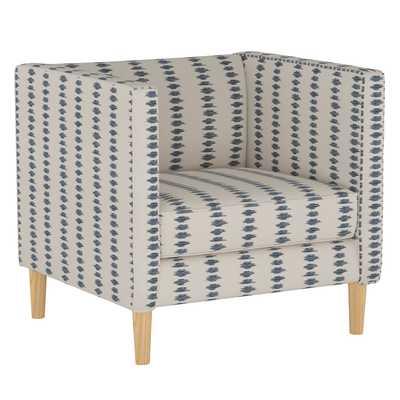 Bucktown Chair in Ikat Scribble Slate Oga - Third & Vine