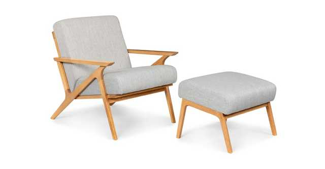 Otio Mist Gray Oak Lounge Set - Article