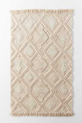 Handwoven Linah Shag Rug By Anthropologie in Beige Size 5X8 - Anthropologie