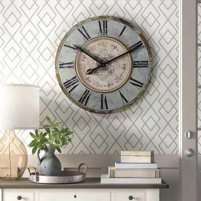 "Lerman Round 29"" Wall Clock - Birch Lane"