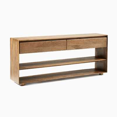 "Anton Solid Wood Standard Console, Burnt Wax 60"" - West Elm"