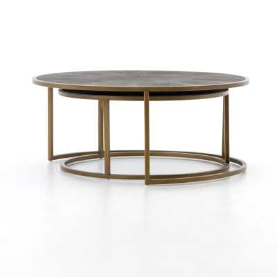 Four Hands Shagreen 2 Piece Coffee Table Set - Perigold