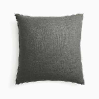 "Classic Linen Pillow Cover, 20""x20"", Slate - West Elm"