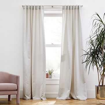 "Ripple Jacquard Curtain, Gray Fog, 48""x96"" - West Elm"