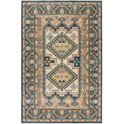 Kalmin Southwestern Brown/Blue Area Rug - Wayfair