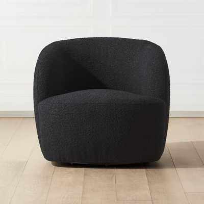Gwyneth Black Boucle Chair - CB2