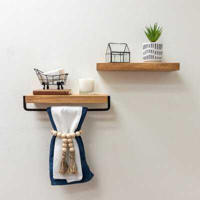Sunny Side 2 Piece Pine Floating Shelf - Wayfair