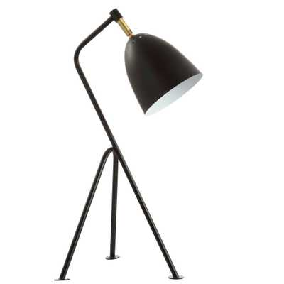 Safavieh Dariel 23.75 in. Black/Brass Gold Table Lamp - Home Depot