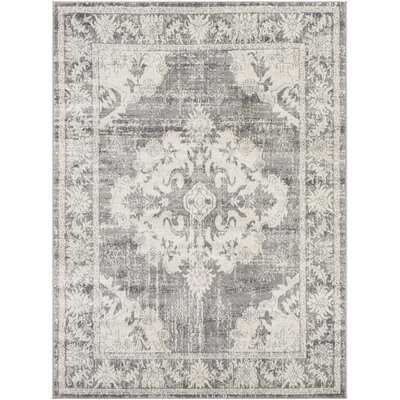 Roma Oriental Ivory/Light Gray Area Rug - Wayfair