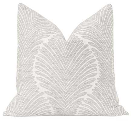 "Musgrove Chenille // Dove Grey - 20"" X 20"" - Little Design Company"