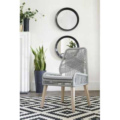Cross Back Side Chair in Gray (set of 2) - Wayfair