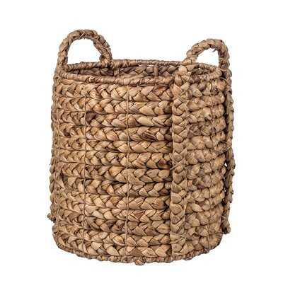 Natural Water Hyacinth Rattan Basket - Wayfair