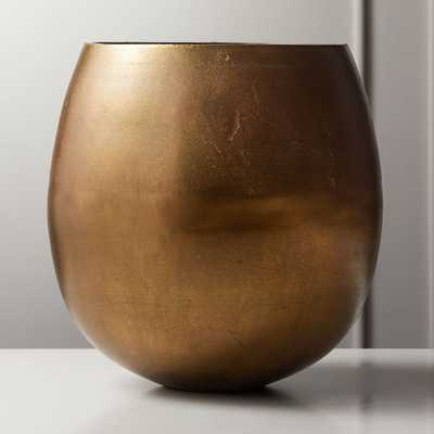 Rough Cast Small Brass Planter - CB2