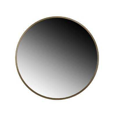 Adelina Gold Circular Mirror - Wayfair