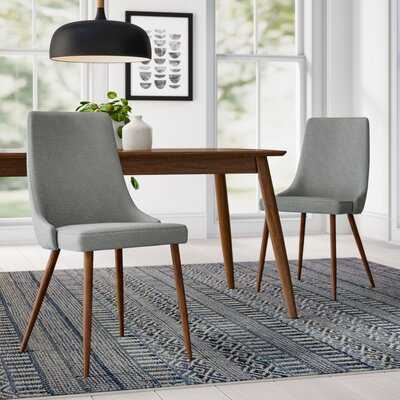 Blaise Upholstered Dining Chair (Set of 2) in Gray - AllModern