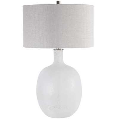 Whiteout Mottled Glass Table Lamp - Hudsonhill Foundry