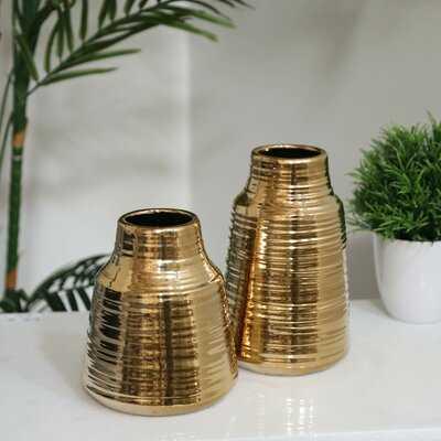 Wimborne Ceramic Round Table Vase - Wayfair