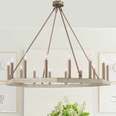 Nickolai 16 - Light Candle Style Wagon Wheel Chandelier - Wayfair