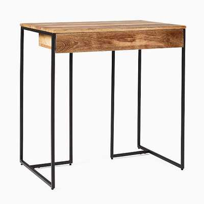 Industrial Storage Mini Desk Raw Mango and Antique Bronze - West Elm