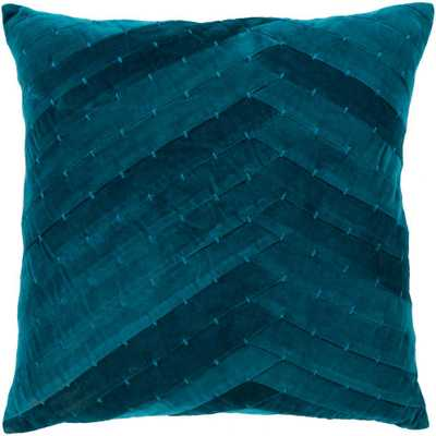 Artistic Weavers Arati 18 in. x 18 in. Teal Solid Textured Polyester Standard Throw Pillow, Blue - Home Depot