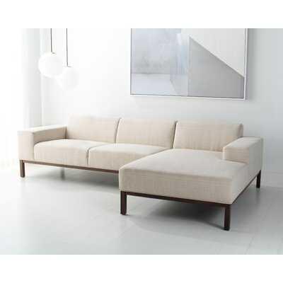 "Haleena 109.5"" Wide Right Hand Facing Sofa & Chaise - Wayfair"