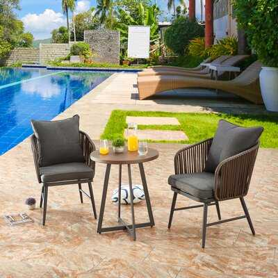 Inklen 3 Piece Sofa Seating Group with Cushions - Wayfair