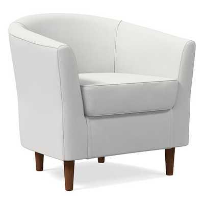 Mila Chair, Performance Washed Canvas, Stone White, Auburn - West Elm