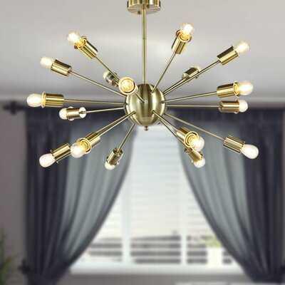 Modern Linear Chandeliers 18-Lights Ceiling Pendant Lighting For Foyer Living Room Kitchen Island Dining Room Bedroom Modern E26 Bulb Base - Wayfair
