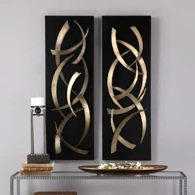 Brushstrokes Metal Wall Art, S/2 - Hudsonhill Foundry