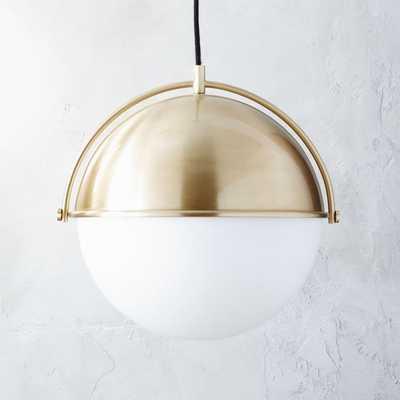 Globe Large Brass Pendant Light - CB2