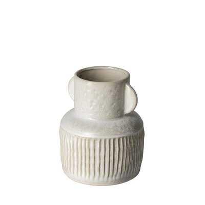 Aneil White Ceramic Table Vase - Wayfair
