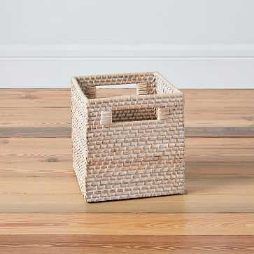 Modern Weave Storage, Whitewash - West Elm