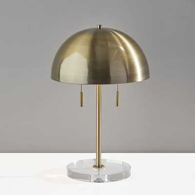 Glass Base Dome Table Lamp, Brass - West Elm