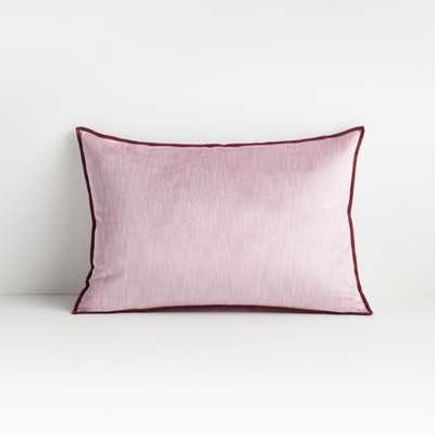 """Styria Lilac 22""""x15"""" Pillow with Down-Alternative Insert - Crate and Barrel"""