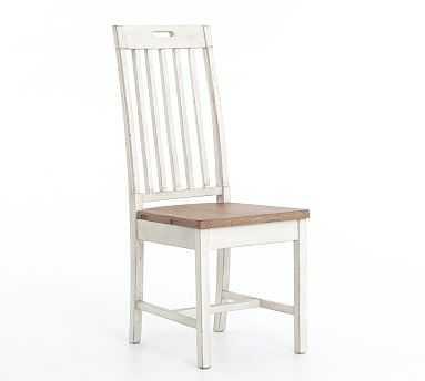 Hart Reclaimed Wood Dining Chair, Driftwood/Limestone - Pottery Barn